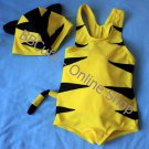 F10001 Baby Cute Tiger Swimming Suit with Hat