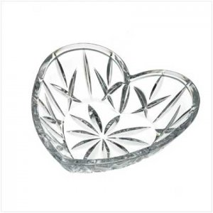 #36973 Gorham Crystal Heart Dish