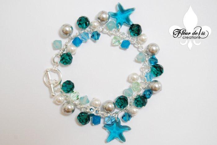 Under The Sea Teal Blue Bracelet