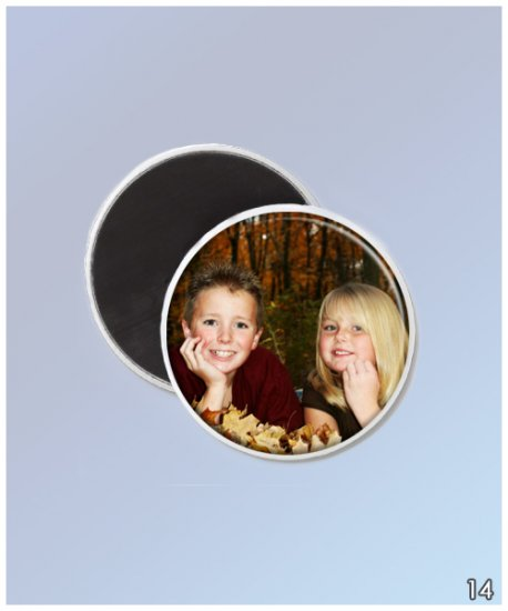Photo Magnets or Flair Button from Your Photo