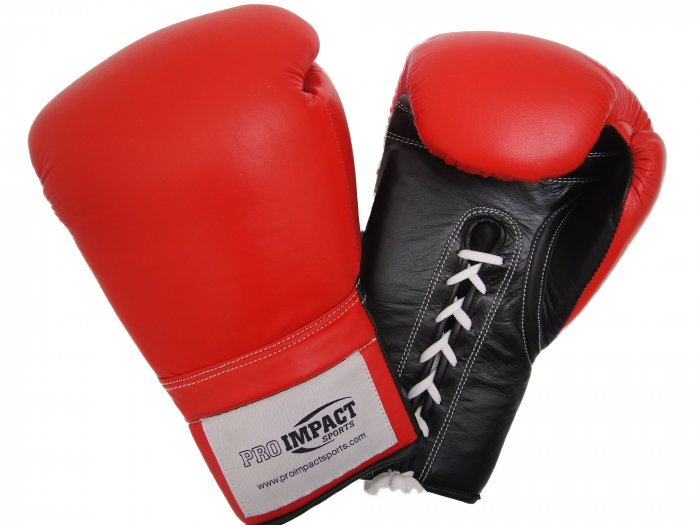 Pro Impact Genuine Top Grade Leather Boxing Glove 14 Oz. LACE UP