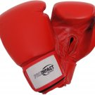 Pro Impact Top Grade Leather Boxing Glove 16 Oz. RED