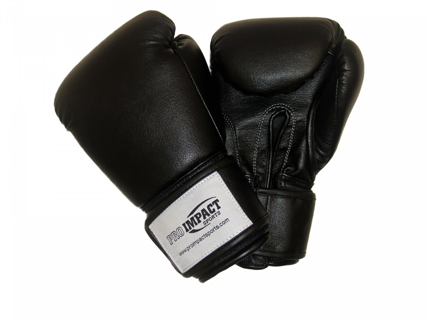 Pro Impact Training Gloves 16 Oz. BLACK (TOP QUALITY SYNTHETIC LEATHER)