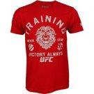 UFC TRAINING  T-SHIRT - RED - MEDIUM