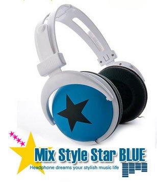 Japanese authentics Mix-style headphone Blue-black star