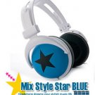 Japanese authentics Mix-style headphone Blue-black star