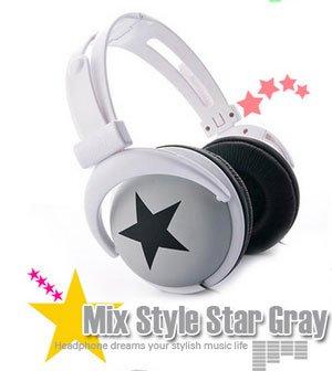 Japanese authentics Mix-style headphone Gray-black star