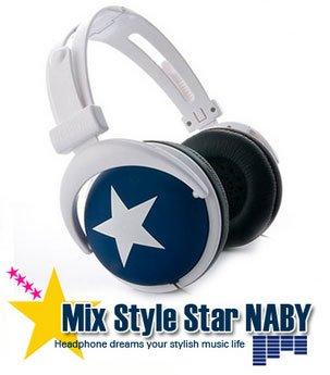 Japanese authentics Mix-style headphone Navy