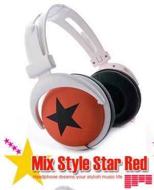 Japanese authentics Mix-style headphone Red