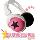 Japanese authentics Mix-style headphone Pink-black star