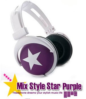 Japanese authentics Mix-style headphone Purple