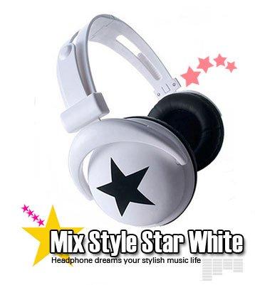 Japanese authentics Mix-style headphone white-bk star