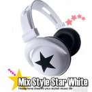 Japanese authentics Mix-style headphone white-bk star