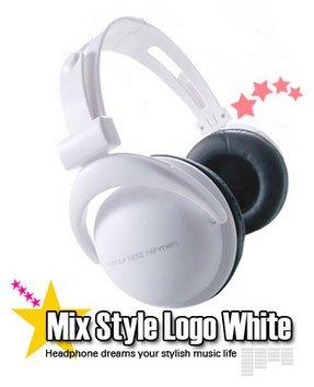 Japanese authentics Mix-style headphone white logo