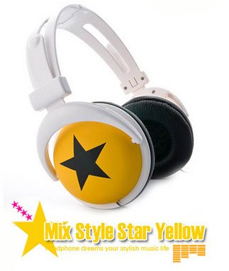 Japanese authentics Mix-style headphone yellow