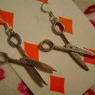 Long Life Scissors - Tibetan Silver Earrings