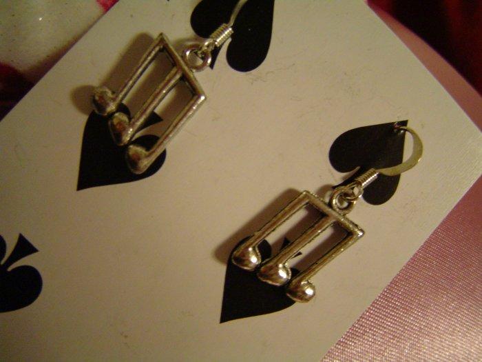 Music Notes - Tibetan Silver Earrings