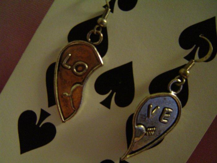 Love Hearts - Tibetan Silver Earrings
