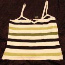 I.N.C. White, Black & Green Dressy Sleeveless Top, Size M, New