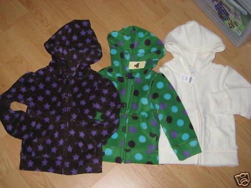 NWT GAP KIDS GIRLS MICRO FLEECE ZIP-UP JACKET 2 & 4 NEW