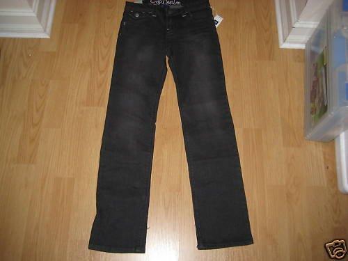 NEW NWT GAP KIDS GIRLS PANTS BLACK JEANS SIZES 6,7 y 8