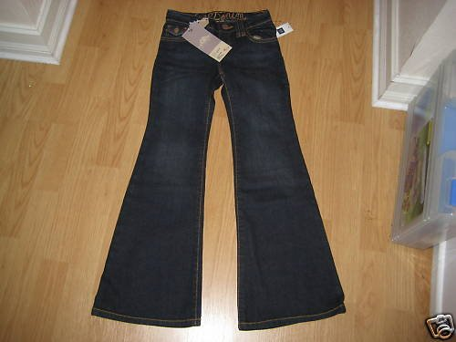 NEW NWT GAP KIDS GIRLS PANTS BLACK JEANS 8 FALL 09