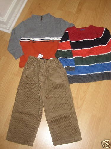 THE CHILDREN PLACE BOYS 2 SWEATERS & CORDUROY 18-24 m