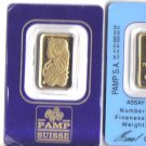 5 gram pamp Pamp Suisse Pure Gold