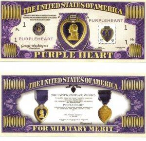 Purple Heart Commemorative Honorary Bill
