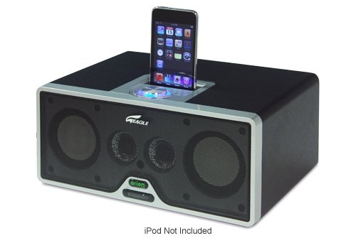 Eagle Tech ET-AR402IR-BK 2.1 iDock Speakers with Subwoofer & Remote