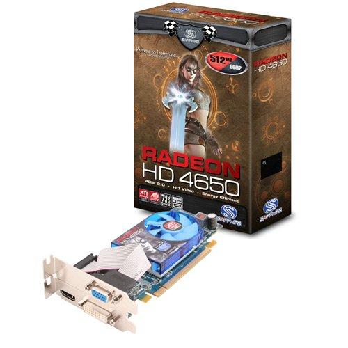 Sapphire HD4650 Pcie 512MB DDR2 Dvi-i /hdmi 128BIT Low Profile - Free Shipping!!!