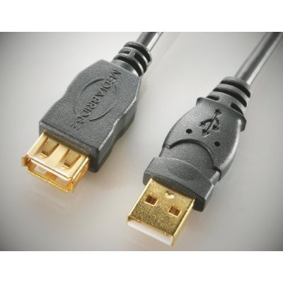 Medialink - Hi-Speed USB 2.0 Extension Cable - A-Male to A-Female - 10ft