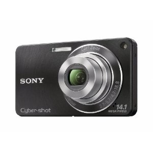 Sony DSCW350 14.1MP Digital Camera 4x Wide Angle Zoom Optical Steady Image Stabilization