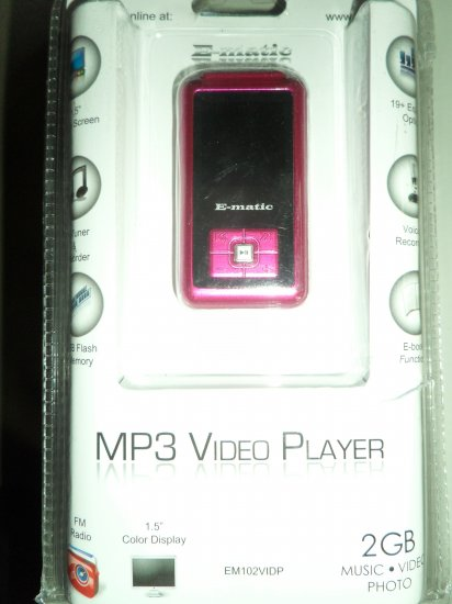 Ematic 2GB Color MP3 Video Player with FM Radio and Voice Recording (Pink) - Free Shipping - 60% OFF