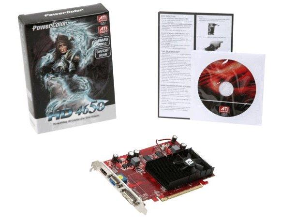 PowerColor ATI Radeon HD 4650 512 MB DDR2 128bit Graphics Card AX4650 512MD2-H
