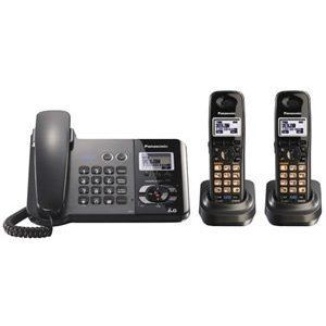 Panasonic DECT 6.0 2-Line Black Corded Cordless Telephone with Two Handsets (KX-TG9392T)