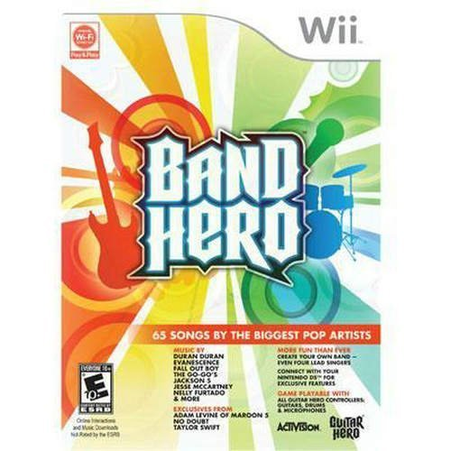 New Activision Blizzard Band Hero Entertainment Game Wii Popular Excellent Performance-FREE SHIPPING