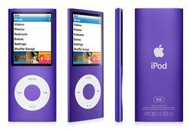 Apple Ipod nano 8GB 4th Generation - Purple - SOLD AS IS.  20% OFF!