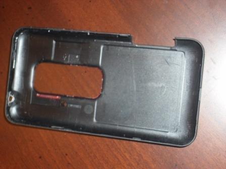 Battery back cover for HTC EVO 3D PG86100 VIRGIN MOBILE - black