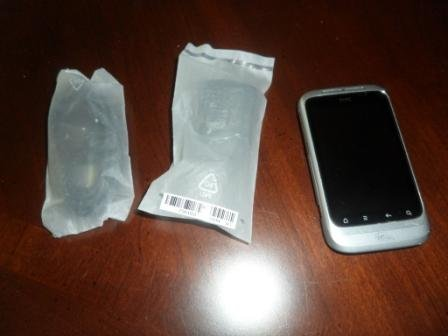 HTC Wildfire S Prepaid Android Phone with case (Virgin Mobile) - LIKE NEW!