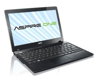 """Acer Aspire One AO725-0802 11.6"""" Netbook Volcano Black - with 128GB RealSSD C300 SSD Drive"""