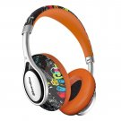 Bluedio A2 (Air) Lightweight Stylish Stereo Wireless Bluetooth Headphones with Mic-White+Orange