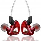 QKZ CK5 In Ear Earphone Stereo Sport Headset for Computer/tablet/laptop/Mobile / PS4 (Red)