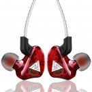 QKZ CK5 in Ear Headphone Stereo Race Sport Headset (Red) - 6-months warranty