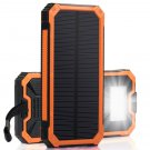 Mobile Solar Charger VOLTSTECH Power Bank 1A/2A Dual USB output, 6-LED Flash Light