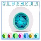 Kids Alarm Digital Clock, Children's Light Alarm. 7 color changing LED ( 40% OFF )