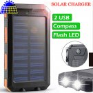 2020 Solar Power Bank 2.1A output with Dual USB ports and Flash Light - VOLTSTECH (35% OFF)