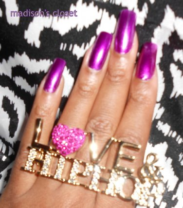 Love & Hip Hop Ring (Pink/Gold)