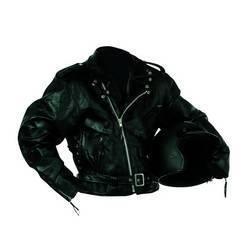 Diamond Plate� Rock Design Genuine Buffalo Leather Motorcycle Jacket (Extra Large)