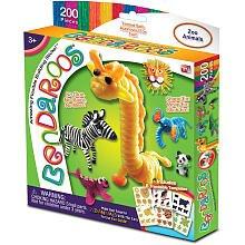 Bendaroos 200 Piece Set - Zoo Animals